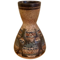 Mid-Century Modern Art Pottery Vase by Lapid, Israel