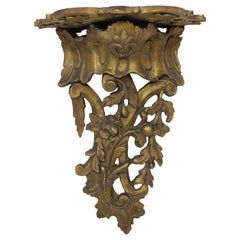 19th Century Carved Gilt Wood Wall Bracket