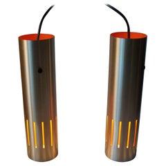 Jo Hammerborg 'Trombone' Pendant Lamps for Fog & Morup, Danish Modern, 1960s