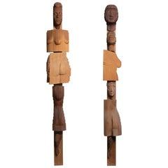TOTEM Sculptures by Reuben Karol, America, 20th Century