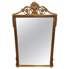 Giltwood Carved Beveled Mirror by Creative Wall Mirror & Art