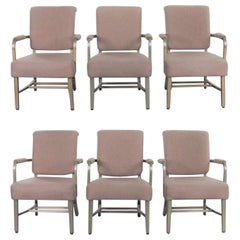 Midcentury Machine Age Aluminum Goodform Armchairs by General Fireproofing Set