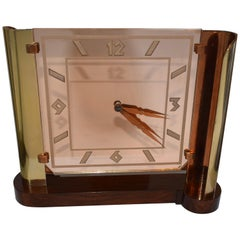 Very Large Art Deco Streamline Modernist 8 Day Mantle Clock, circa 1930