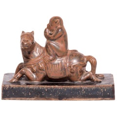 Early 20th Century Chinese Monkey on Horse Shoemaker's Weight