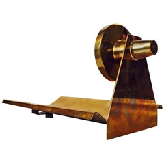 Norwegische Modernist Patinierte Messing Lampe von John Gulbrandsrød für Drangsgaard