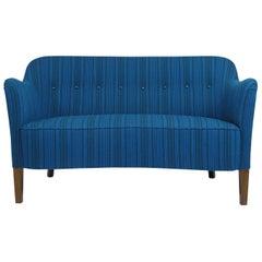 Ludvig Pontoppidan Danish Settee in New Wool Fabric