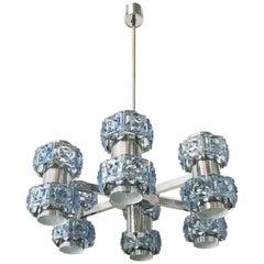 Blue Crystal Chandelier by Sciolari