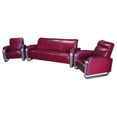 Important Art Deco Sofa Set by KEM Weber for Lloyd Furniture