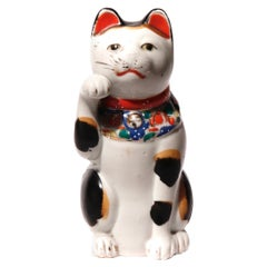 Early 20th Century Porcelain Maneki Neko, Japan