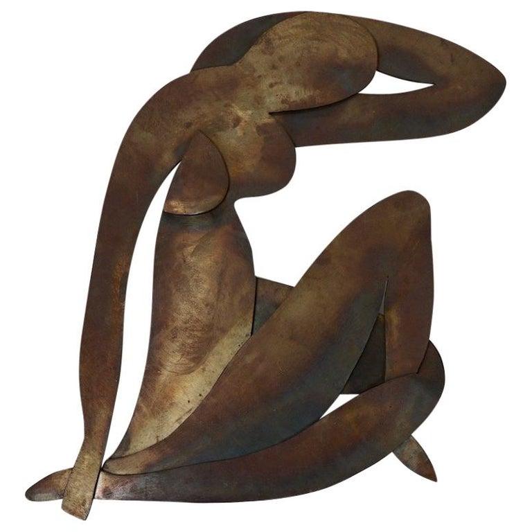 Brutalist Wall Hanging Sculpture after Matisse For Sale