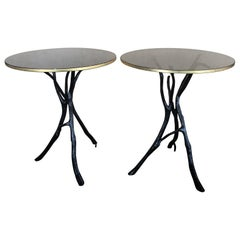 Pair of Bill Sofield Twig Occasional Side Table by Baker