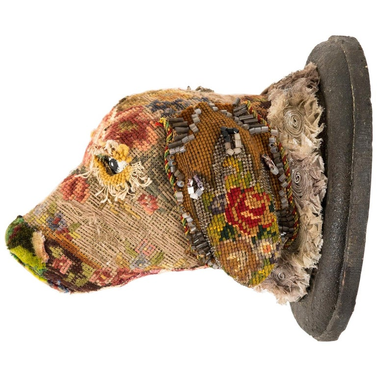 Southern Beasts Sandy Dog Head Mount by Mary Lou Marks
