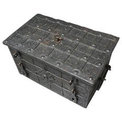 Nuremberg Late 17th Century Wrought Iron Strong Box with Elaborate Lock