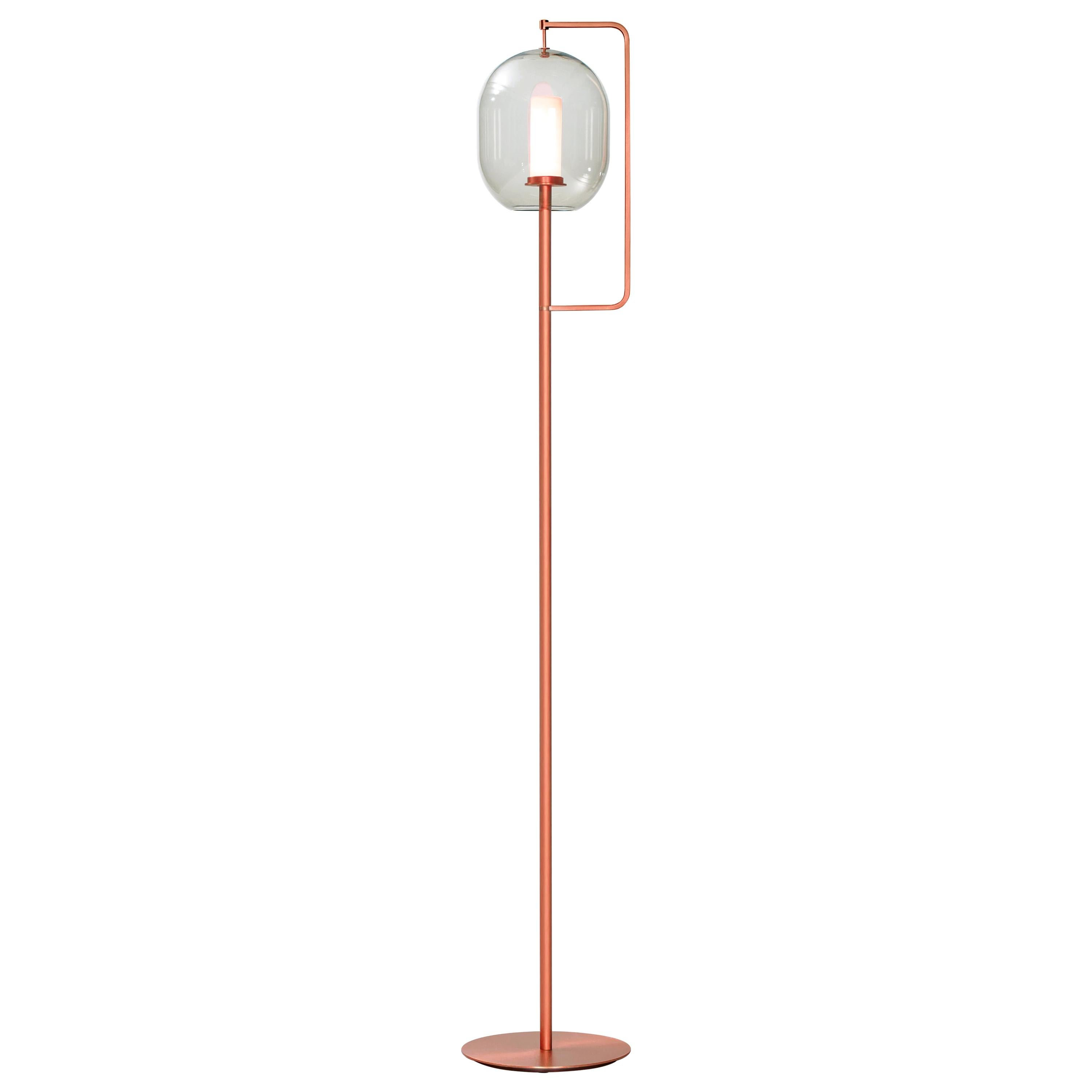 ClassiCon Lantern Light Tall Floor Lamp in Copper-Plated Brass by Neri&Hu