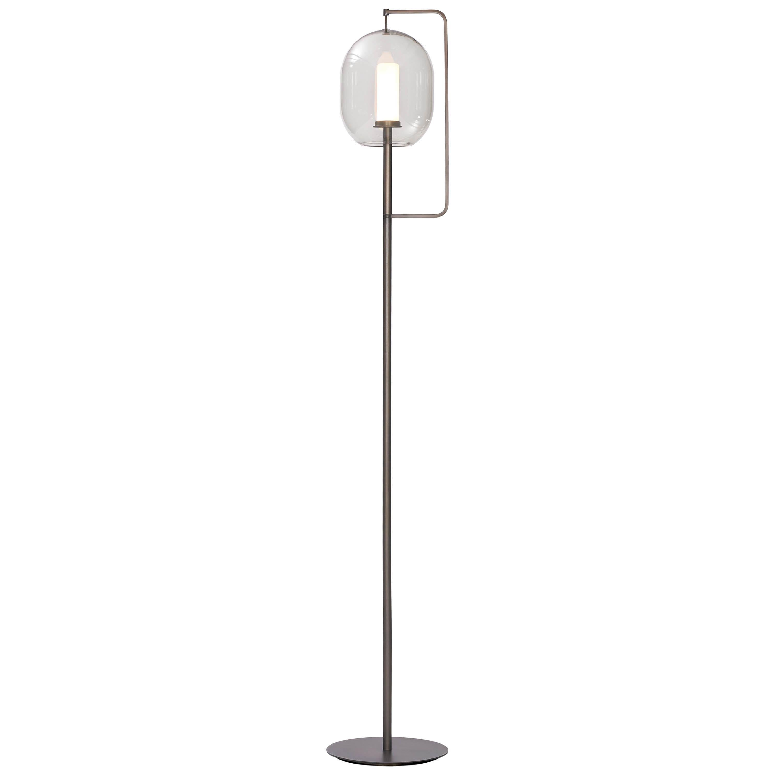 ClassiCon Lantern Light Tall Floor Lamp in Burnished Brass by Neri&Hu