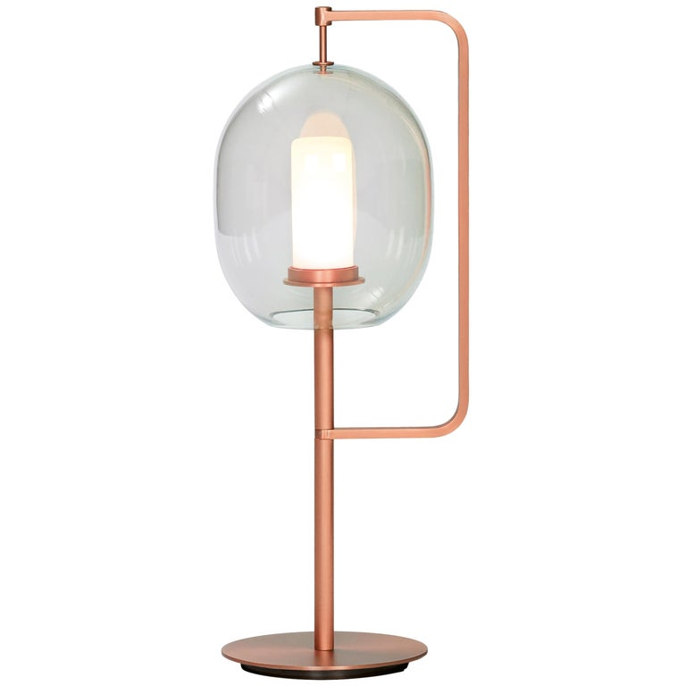 ClassiCon Lantern Light Table Lamp in Copper-Plated Brass by Neri&Hu For Sale