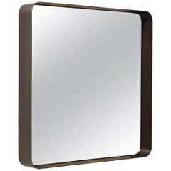ClassiCon Cypris Square Mirror in Burnished Brass by Nina Mair