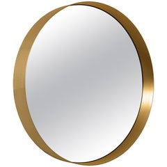 ClassiCon Cypris Round Mirror in Brass by Nina Mair