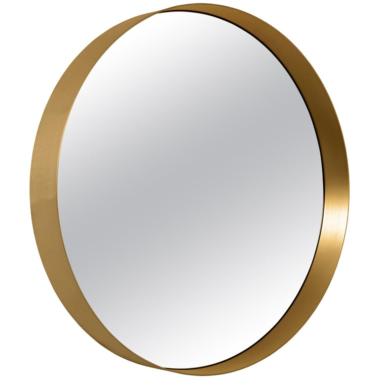 ClassiCon Cypris Round Mirror in Brass by Nina Mair For Sale