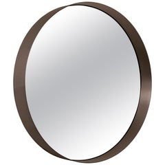 ClassiCon Cypris Round Mirror in Burnished Brass by Nina Mair