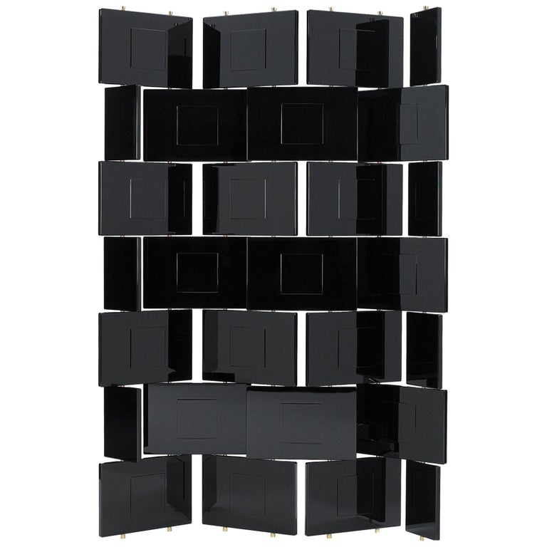 ClassiCon Brick Screen in Black by Eileen Gray For Sale