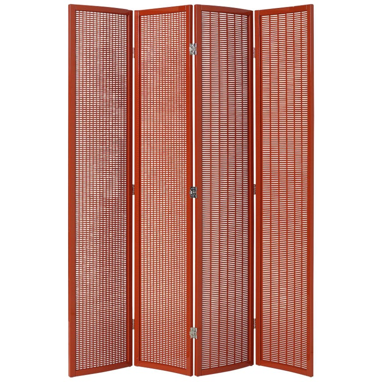ClassiCon Folding Screen in Red by Eileen Gray For Sale