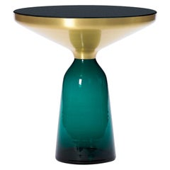 ClassiCon Bell Side Table in Brass & Emerald Green by Sebastian Herkner