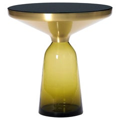 ClassiCon Bell Side Table in Brass and Topaz Yellow by Sebastian Herkner