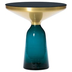 ClassiCon Bell Side Table in Brass and Montana Blue by Sebastian Herkner