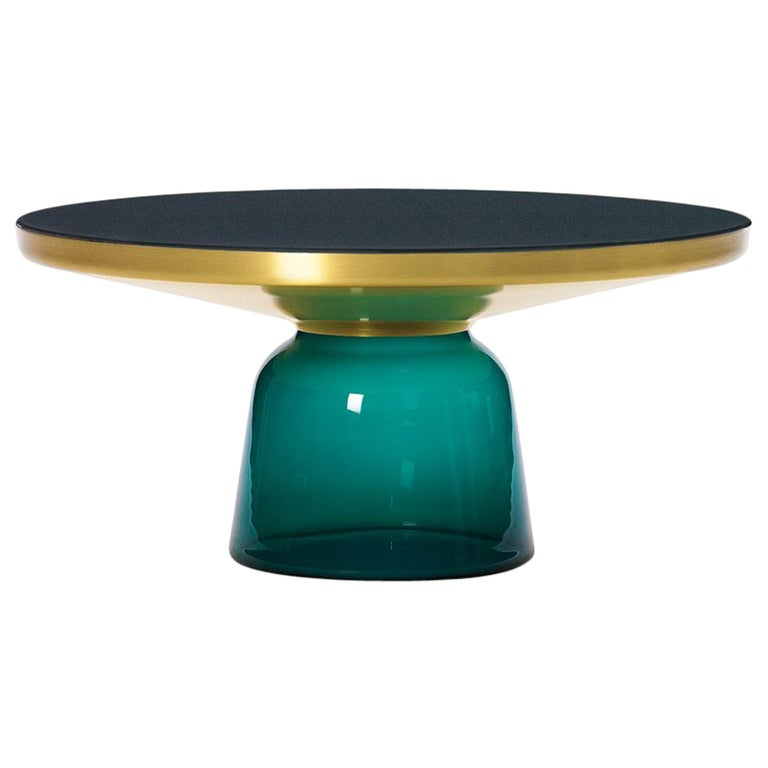 ClassiCon Bell Coffee Table in Brass and Emerald Green by Sebastian Herkner For Sale