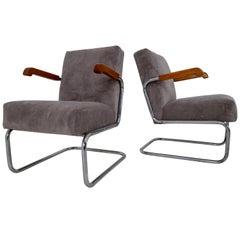 Armchairs by Thonet, circa 1930s Midcentury Bauhaus Period
