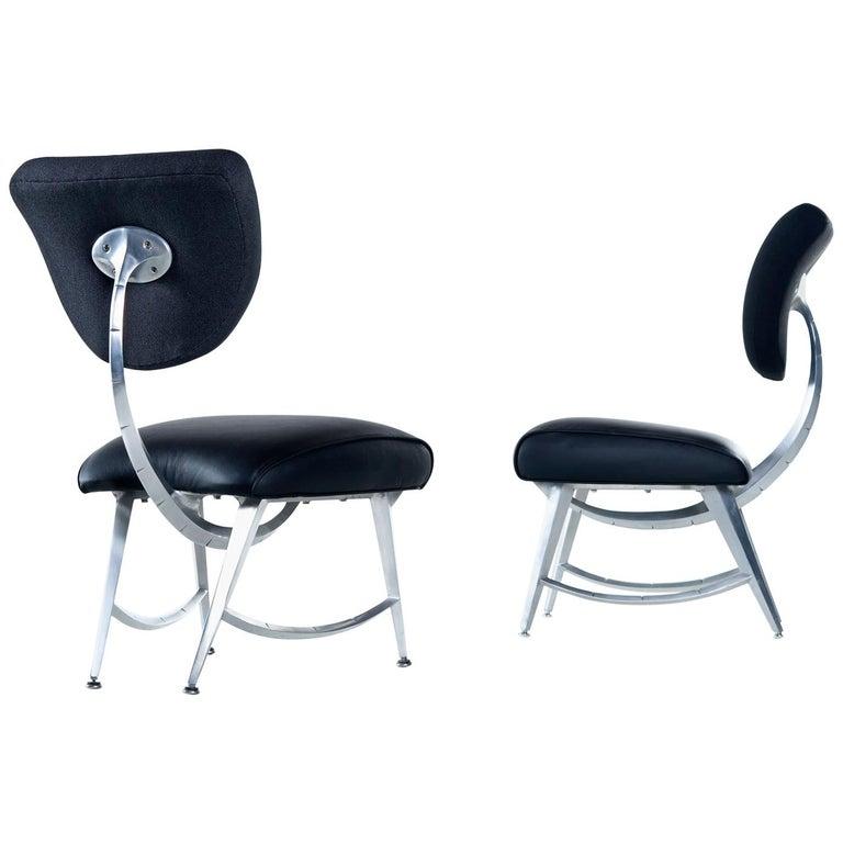 Jordan Mozer for Disney Quest Aluminum Armillary Chairs Set, Fully Restored For Sale