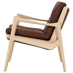 ClassiCon Euvira Lounge Chair in Oak and Coconut Leather by Jader Almeida