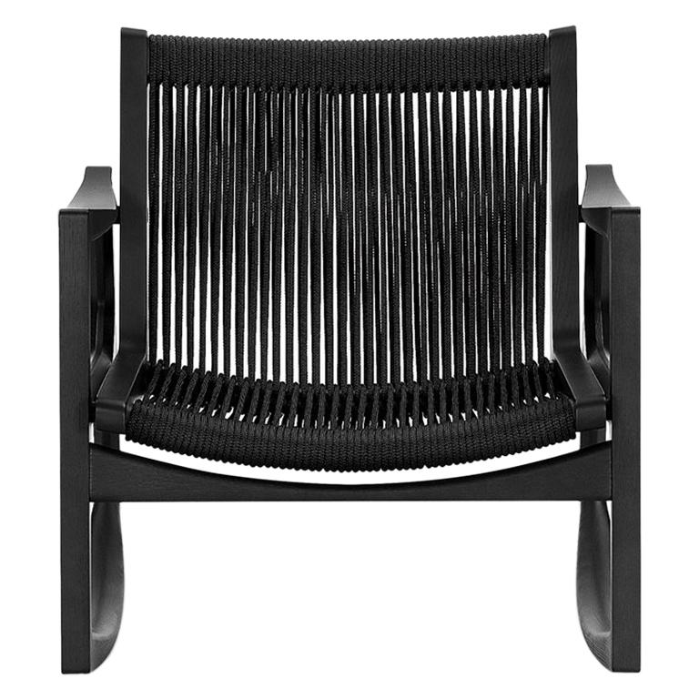 ClassiCon Euvira Rocking Chair in Black with Black Cord by Jader Almeida