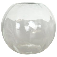 Super Rare Vintage 1960s Clear Glass Turmalin Vase by Wilhelm Wagenfeld for WMF