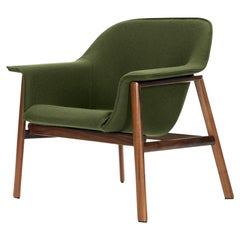 ClassiCon Sedan Armchair in Fabric with Walnut Frame by Neri & Hu