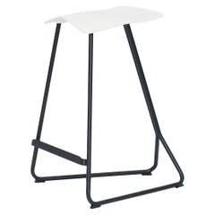 ClassiCon Triton Counter Bar Stool in Cream PU and Black by Clemens Weisshaar