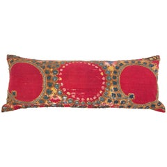 Antique Suzani Pillow or Cushion Cover Fashioned from a 19th Century Suzani