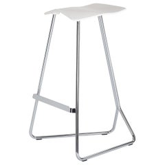 ClassiCon Triton Bar Stool in Cream PU and Chrome by Clemens Weisshaar