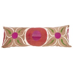 Old Suzani Pillow / Cushion Cover Fashioned from a Mid-20th Cenury Suzani