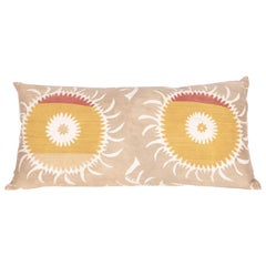 Old Suzani Pillow/Cushion Cover Fashioned from a Mid-20th Century Suzani