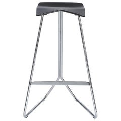 ClassiCon Triton Bar Stool in Black Pu and Chrome by Clemens Weisshaar