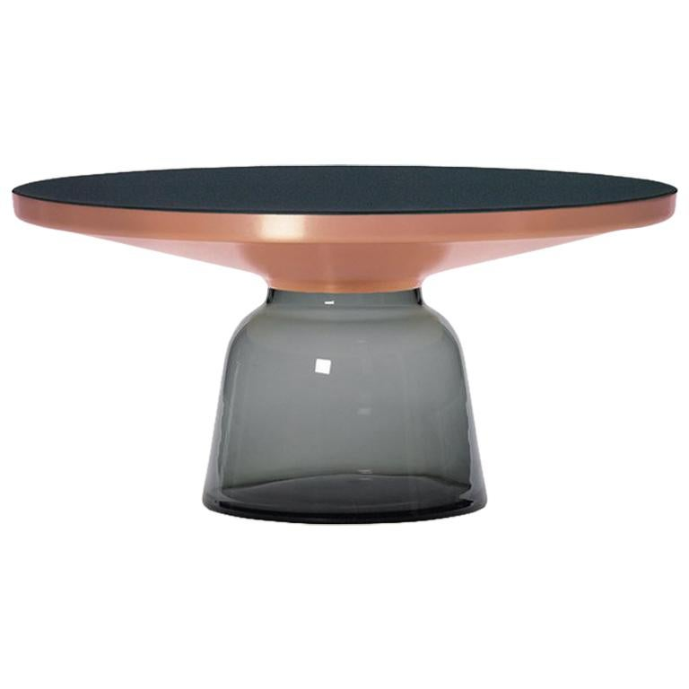 ClassiCon Bell Coffee Table in Copper and Quartz Grey by Sebastian Herkner