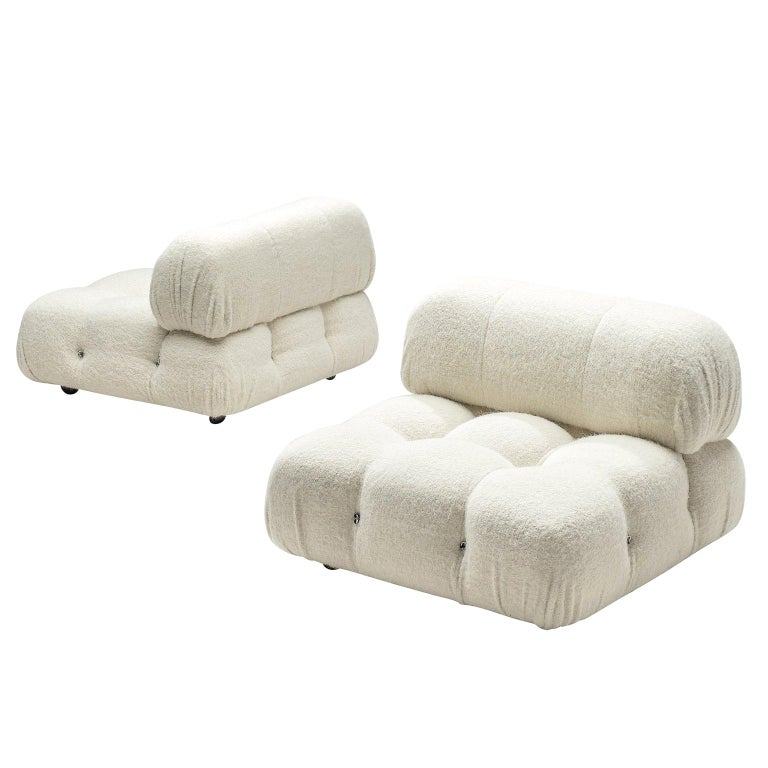 Mario Bellini Reupholstered Camaleonda Elements in Pierre Frey Wool For Sale