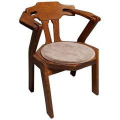 Late 20th Century Oak Design Desk Chair