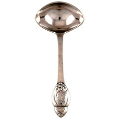 Evald Nielsen Number 6, Sauce Spoon in Full Silver