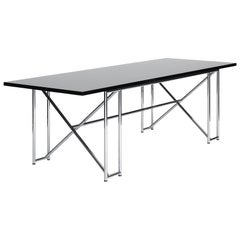 ClassiCon Double X Table in Black High Gloss Lacquer by Eileen Gray