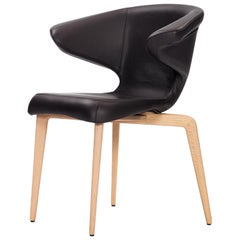 ClassiCon Munich Armchair in Leather with Oak by Sauerbruch Hutton