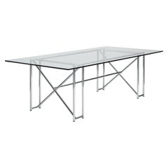 ClassiCon Double X Table in Crystal Glass by Eileen Gray