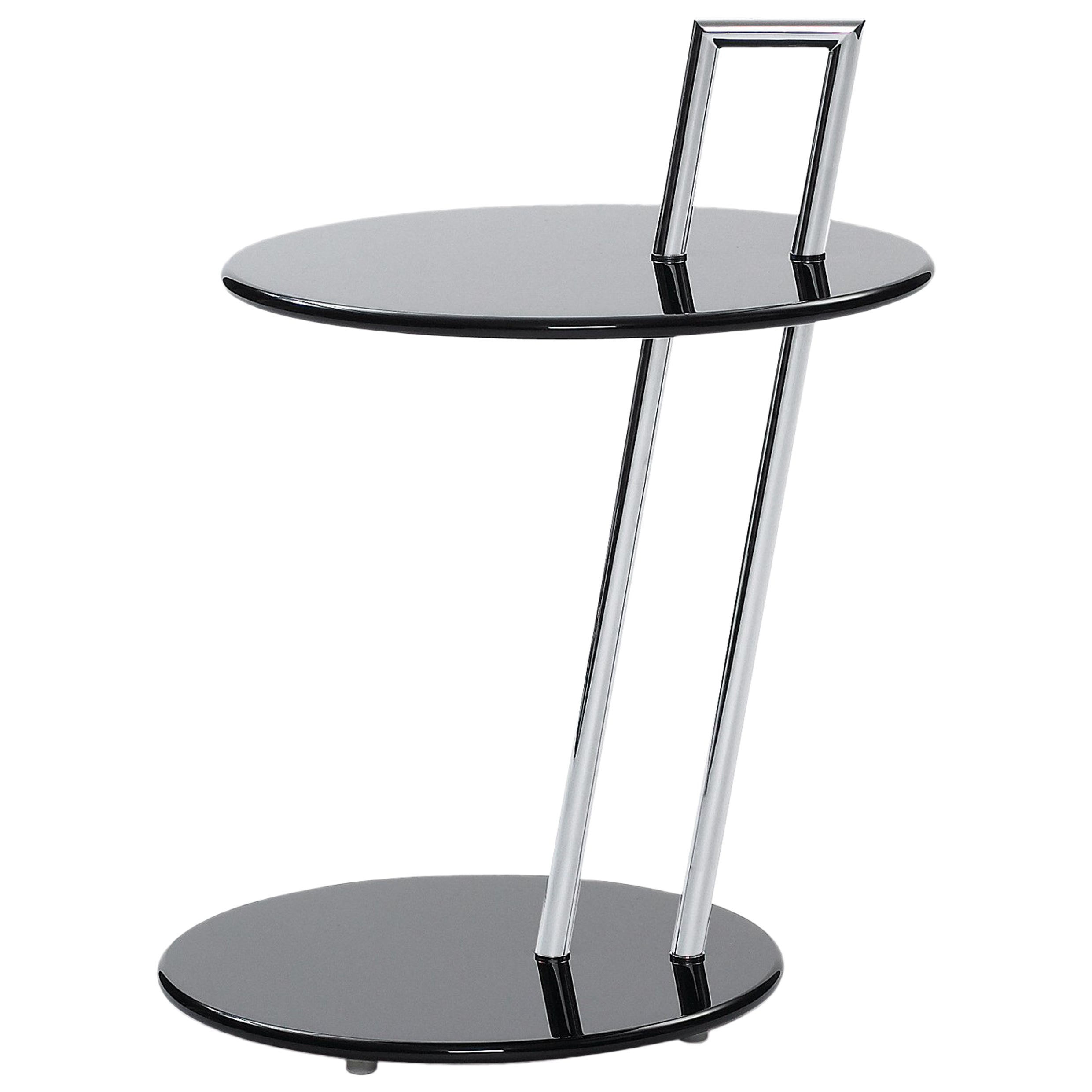 ClassiCon Occasional Round Side Table in Black by Eileen Gray